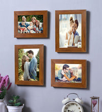 Load image into Gallery viewer, Brown Wall Photo Frame Set Of 4