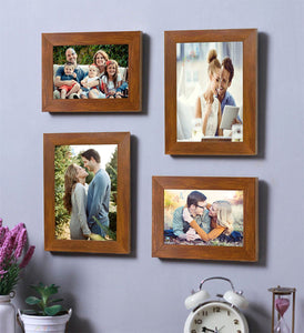 Brown Wall Photo Frame Set Of 4