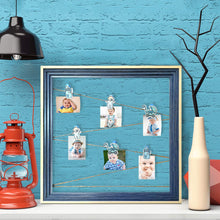 Load image into Gallery viewer, Wooden MDF Baby Boy Photo Hanging Frame With Photo Hanging Clip - Blue