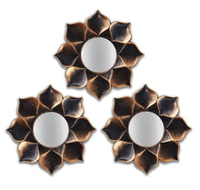 Load image into Gallery viewer, Art Street -Set of 3 Lotus Petal Mirror Decorative in Round Shape (9 x 9 Inchs)