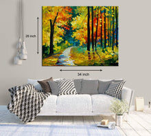 Load image into Gallery viewer, Art Street Abstract Fall Art Print,Landscape Canvas Painting