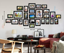 Load image into Gallery viewer, Galaxy Set of 26 Individual Black Wall Photo Frame