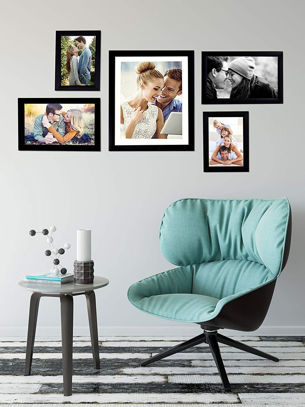 Black Wall Photo Frames Set of 5