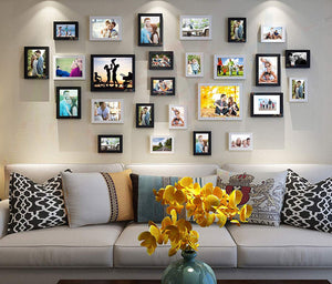 Enormous Set of 26 Individual Black & White Wall Photo Frame