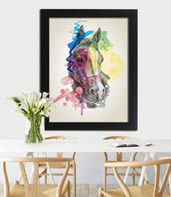 Load image into Gallery viewer, Abstract Horse Framed Art Print