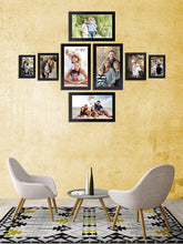 Load image into Gallery viewer, 8 Individual Black Wall Photo Frames Wall Decor Set