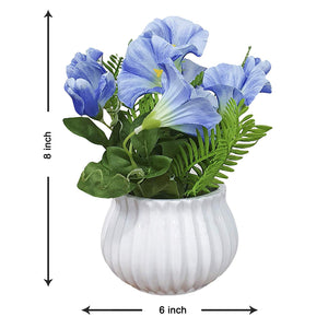 Artificial Table Orchid Plants/Flower in Ceramic Pot/Planter for Home.