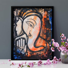 Load image into Gallery viewer, Ganesh Ji Theme 1 Framed Canvas