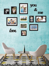 Load image into Gallery viewer, Individual Black & White Wall Photo Frames Wall Decor Set With MDF Plaque
