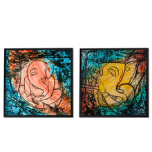 Load image into Gallery viewer, Ganesh Ji Framed Canvas Painting