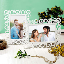 Load image into Gallery viewer, Set Of 2 Decoralicious White Circular Table Photo Frame For Home Decor