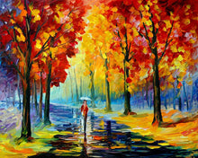 Load image into Gallery viewer, Art Street A Walk in The Rain Art Print,Landscape Canvas Painting