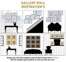 Load image into Gallery viewer, Set of 8 Individual Black Wall Photo Frames