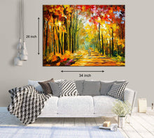 Load image into Gallery viewer, Amidst The Autumn Art Print,Landscape Canvas Painting