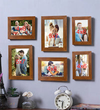 Load image into Gallery viewer, Brown Wall Photo Frame Photo Frame Set of 6