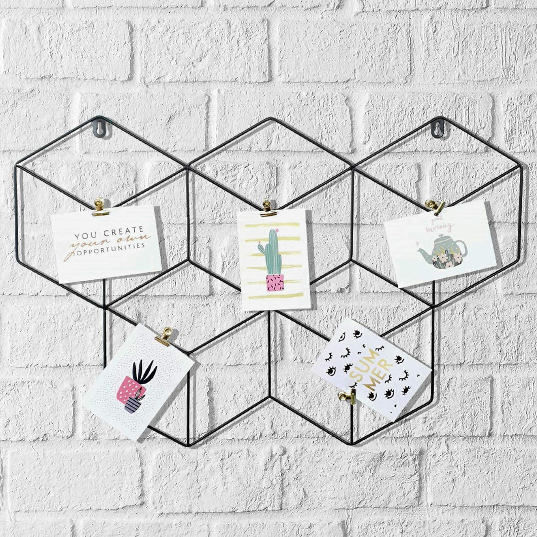 Butterfly Shape DIY Metal Photo Grid Wall for Photo Hanging