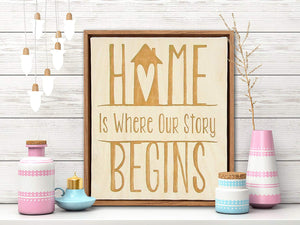 Home Story Framed Canvas