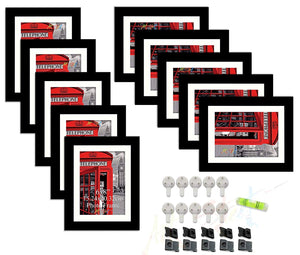 10 Individual Wall Photo Frame / Wall Decor Set