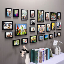 Load image into Gallery viewer, Black Wall Photo Frame Set Of-25