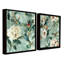 Load image into Gallery viewer, Bird Floral Theme Set of 2 Framed Canvas