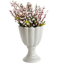 Load image into Gallery viewer, Artificial Flowers Plants White Lavender Flower in Ceramic Pot/Planter for Home.