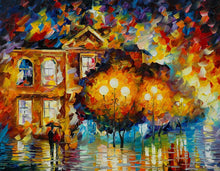 Load image into Gallery viewer, Art Street City Night Abstract Art Print,Landscape Canvas Painting