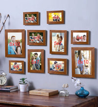 Load image into Gallery viewer, Brown Photo Frame Frames  Set of 10