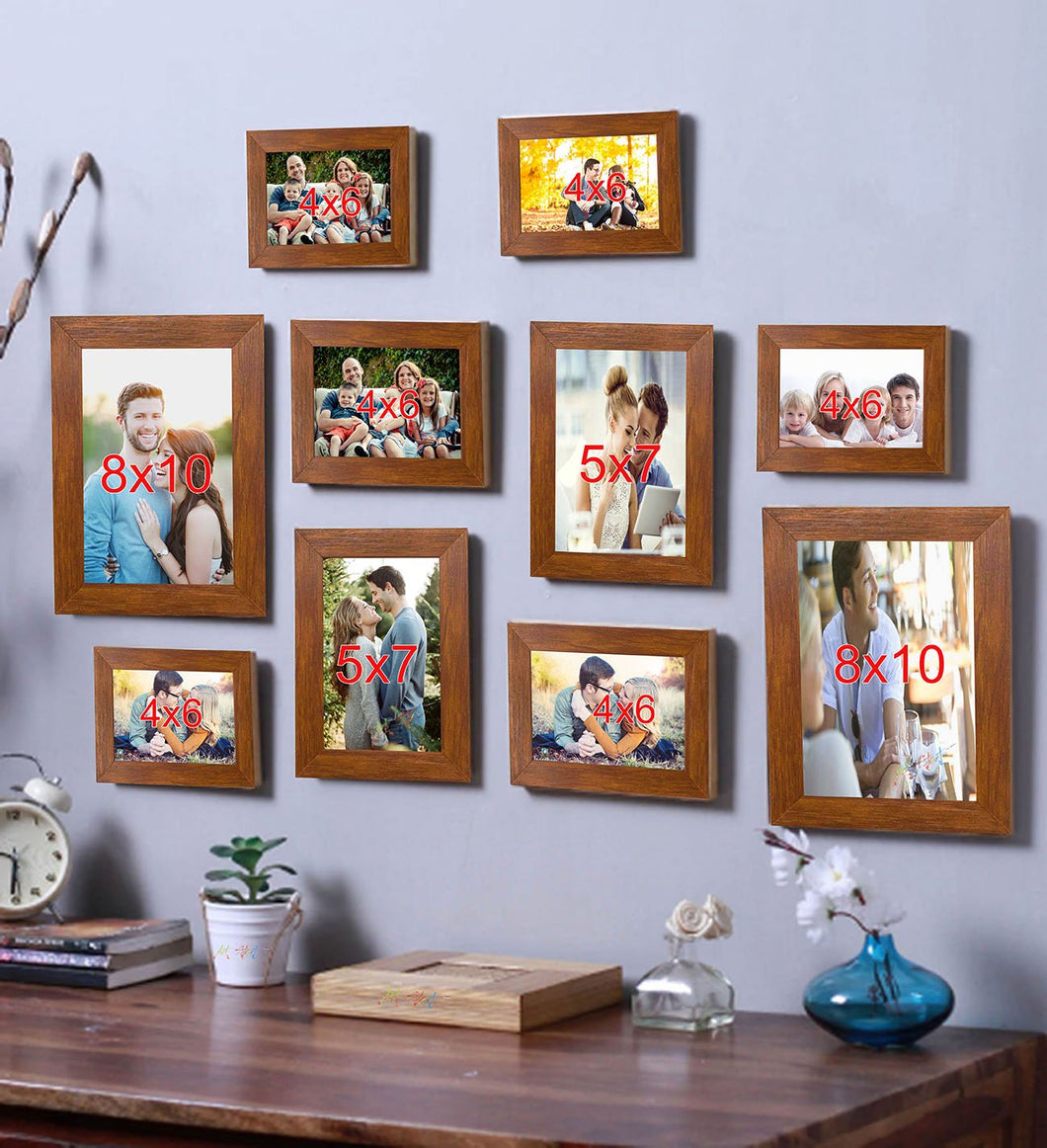Brown Photo Frame Frames  Set of 10