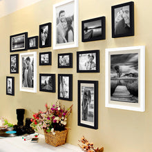 Load image into Gallery viewer, Shooting Star 16 Individual Black Wall Photo Frames Set Wall Decor