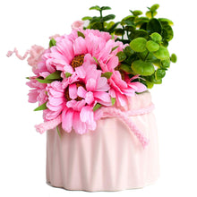 Load image into Gallery viewer, Artificial Flowers/Plants/Pink Sunflower Flower in Ceramic Pot/Planter for Home, Garden Decor Decoration