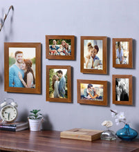 Load image into Gallery viewer, Brown Photo Frame Frames Set Of 7