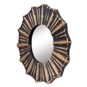 Copper Decorative' Wall Mirror (Plastic, 10X10 Inch, Copper) (Set of 3)