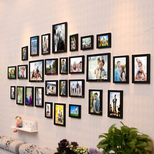 Delighted Set of 28 Individual Black Wall Photo Frame
