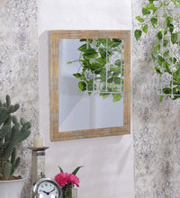 Load image into Gallery viewer, White Gold Flat Decorative Wall Mirror/Looking Glass Inner Size 12 x 18 inch, Outer Size 15 x 21 inch