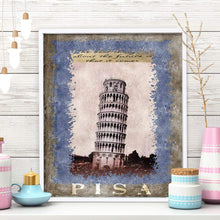 Load image into Gallery viewer, Pisa Tower 1 Framed Canvas