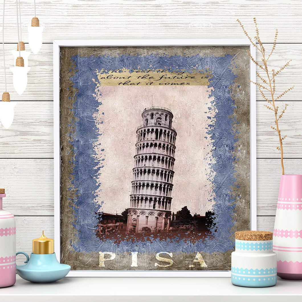 Pisa Tower 1 Framed Canvas