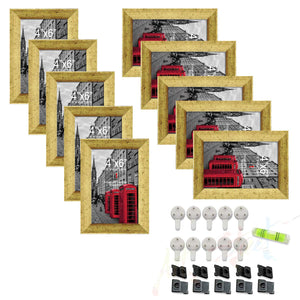 Set of 10 Individual Black Wall Photo Frames / Wall Decor