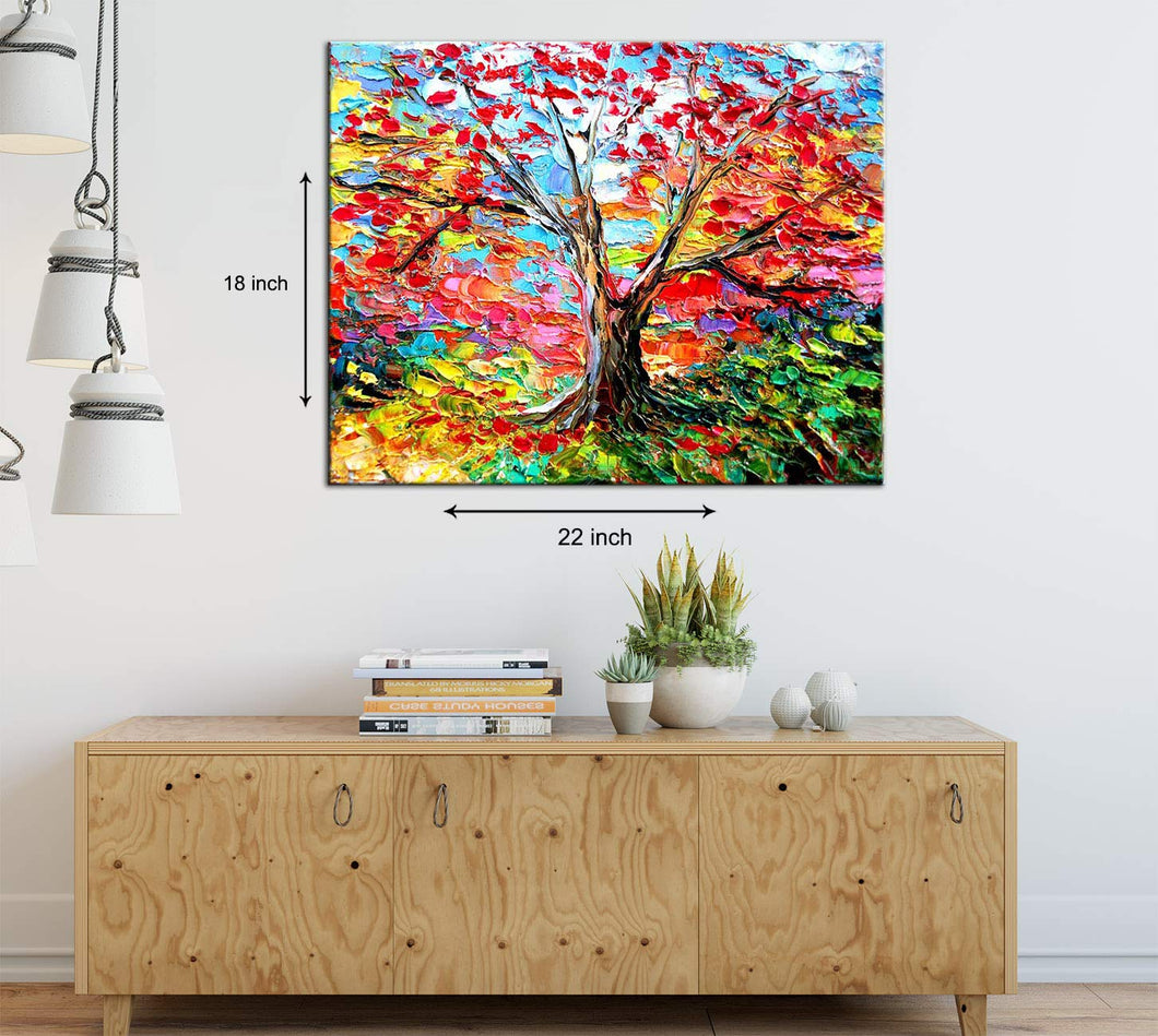 Art Street Vivacious Tree Art Print,Landscape Canvas Painting