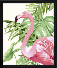 "Load image into Gallery viewer, Flamingo Theme Printed Framed Art Print -13.5"" X 17.5"" Inch"