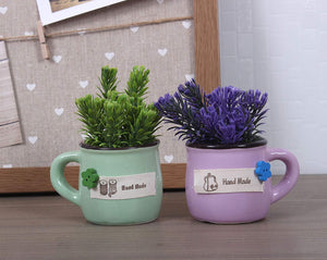Ceramic Artificial Plant for Indoor/Outdoor, Home & Office,