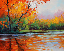 Load image into Gallery viewer, Nature Reflections Art Print,Landscape Canvas Painting