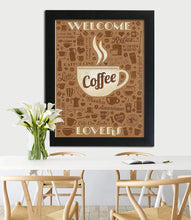 Load image into Gallery viewer, Holiday Theme Motivational Quote Poster # Welcome Coffee Lovers