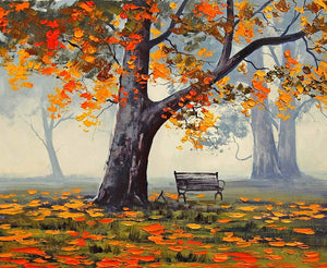 Mesmerizing Autumn Art Print,Landscape Canvas Painting