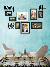 Load image into Gallery viewer, Bird's Nest 8 Black & White Wall Photo Frames With Love & Bird Design MDF Plaque