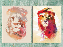 Load image into Gallery viewer, Royal Lion Theme 2 Poster Set - 12 X 16 Inch.