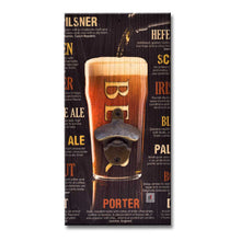 Load image into Gallery viewer, Art Street Beer Porter Wall Mounted Wooden Beer Bottle Opener For Bar, Home, Can Opener Creative Bar & Home Wall Decor