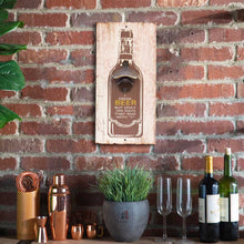 "Load image into Gallery viewer, Art Street I Drink Beer But Only On Days That End with""Y"" Wall Mounted Wooden Beer Bottle Opener for Bar, Home, Can Opener Creative Bar & Home Wall Decor"