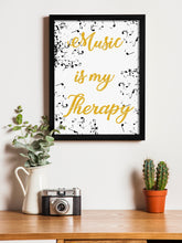 Load image into Gallery viewer, Musical Theme Framed Art Print, For Home & Office Decor Size - 13.5 x 17.5 Inch