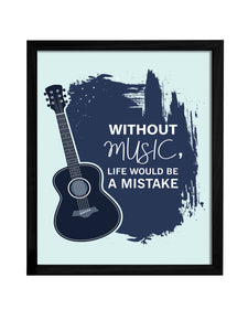 Musical Theme Framed Art Print, For Home & Office Decor Size - 13.5 x 17.5 Inch