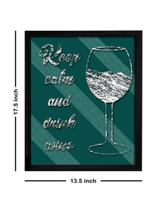 Bar Theme Framed Art Print, For Home & Office Decor Size - 13.5 x 17.5 Inch